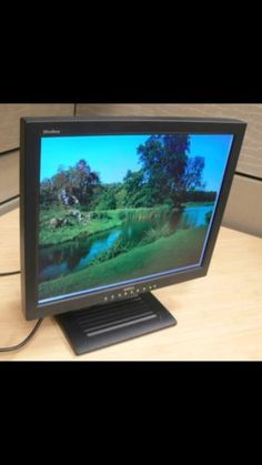 "Computer Monitor. Dell UltraSharp 1800FP 18"" LCD Flat Panel Monitor"