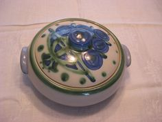 M.A.Hadley Covered Vegetable Bowl, Bouquet Pattern