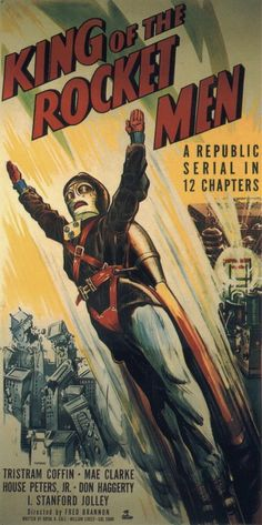vintage movie poster: king of the rocket men 1949