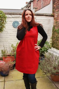 Su Sews So So Red Washi Dress 1 Washi Dress, Winter Looks, Dress Ideas, Fascinator, Winter Outfits, Sewing Patterns, Fall, Sweet, Red