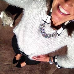 """It's Thursday Day 22 of my #January #WinterFashion #StyleChallenge and I'm sharing some textures in this #Fluffy #Sweater for #ClosetRemix2015 simply gray…"""
