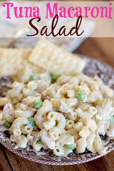Tuna Macaroni Salad – Dips, appetizers, pasta salads, etc. Tuna Macaroni Salad, Cooking Recipes, Healthy Recipes, Healthy Meals, Diet Meals, Can Tuna Recipes, Cooking Games, Healthy Appetizers, Healthy Dishes