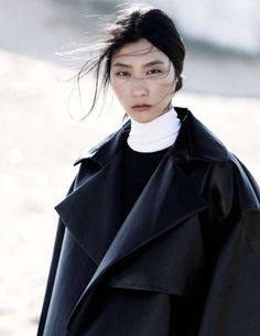 Feminized Monochromatic Fashion - The Vogue Russia July 2013 Editorial Stars a Sweet Ji Hye Park (GALLERY)