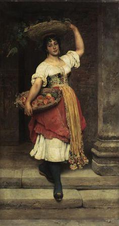 С удовольствием приглашаю в мою любимую Венецию! Часто она ассоциируется с карнавалом. Да, несомненно, это- ее неотъемлемая часть. Но есть Венеция другая, внекарнавальная - в ней живут реальные люди, они просто живут - любят, страдают, рождаются и умирают. Я очень люблю этого художника - Эжена де Блааса (да, фамилия у него явно не итальянская. Ведь оба его родителя- австрийцы, но с детства он жил в Италии - сначала под Римом, потом в Венеции).