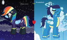 Resultado de imagen para soarindash Rainbow Dash And Soarin, Mlp, Ponies, Unicorns, My Little Pony, Cartoons, Fandoms, Animals, Fictional Characters