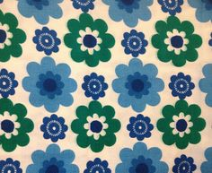 Vintage floral fabric 1960s
