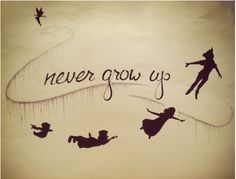 Laura.. saw a couple peter pan tattoos with silhouettes.. looks pretty cool!