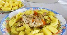 sos śmietanowo koperkowy z  ćwiartkami z kurczaka