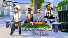 Ebonix | Infisim Braids & ModishKitten Top Knot for Kids | simminginmelanin