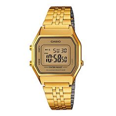 Casio Ladies MidSize Gold Tone Digital Retro Watch LA680WGA9BDF * Want to know more, click on the image.Note:It is affiliate link to Amazon.