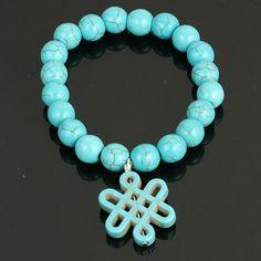 Stretch Infinity Knot Braclet. www.shazbamdecor.com Turquoise Bracelet, Stretches, Knot, Infinity, Lady, Bracelets, Jewelry, Bangles, Jewellery Making