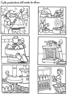 Secuencias Temporales para recortar y colorear! Sequencing Pictures, Sequencing Cards, Story Sequencing, Free Coloring, Coloring Pages, Kindergarten, Picture Story, How To Make Comics, Autumn Activities