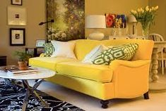 Image result for yellow couch decorating ideas
