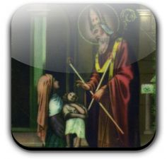 ST. BLAISE = FEASDAY- FEB. 3      THE BLESSING OF THE THROAT-TWO BLESSED CANDLES ARE HELD BY A PRIEST CROSSED OVER THE THROAT AS A BLESSING IS SAID.