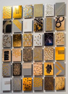 Simple Canvas Paintings, Canvas Art, Diy Wall Art, Metal Wall Art, Gold Leaf Art, Diy Art Projects, Tile Art, Abstract Wall Art, Diy Painting