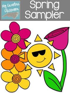 Clip Art Set: { Spring Sampler } Sunshine & Flowers