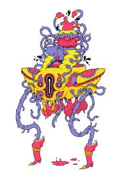 NICK EDWARDS - psychedelic illo blog