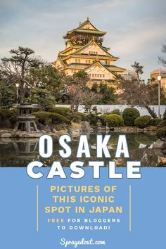 Osaka Castle in Japan is an Iconic Landmark, a place that played a very important role in Japan's history. Here are pictures from Osaka castle and how it looks today to inspire you to travel to Osaka. Japan Travel Photography, Castle Pictures, Osaka Castle, Japan Picture, Amazing Destinations, Travel Destinations, Some Beautiful Pictures, One Day Trip, Beautiful Park