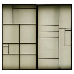 Architectural Aluminum and Fiberglass Panels or Screen, Mondrian Design | From a unique collection of antique and modern architectural elements at https://www.1stdibs.com/furniture/building-garden/architectural-elements/