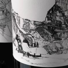 Yutaka Sone's wine bottle designs for the Ornellaia Vendemmia d'Artista commission featuring a drawing of his 'Picnic in Carrara' with Luc Tuymans and Rirkrit Tiravanija. #regram @ornellaiawinery @yutakasone #YutakaSone #NationalWineDay by davidzwirner