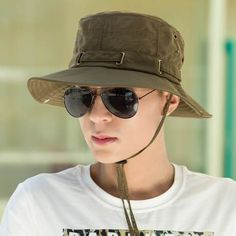 380df10a189 Summer mens fishing hat for outdoor sports UV protection bucket hats