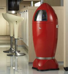 The Rocket Ship Trash Can Will Take You on a Journey to Space #Decor #Retro trendhunter.com