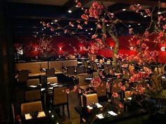 Het restaurant van binnen. Het ziet er erg sfeervol uit.