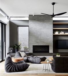 Living Room Seating, Living Room Sofa, Living Rooms, Casual Family Rooms, Ligne Roset, Home Room Design, Lounge Areas, Living Room Inspiration, House Rooms