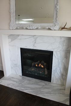 5 Stupendous Useful Tips: Fixer Upper Fireplace Joanna Gaines fake fireplace shiplap.Fireplace Outdoor Concrete living room with fireplace and tv.Fake Fireplace I Love. Marble Fireplace Surround, Small Fireplace, Faux Fireplace, Marble Fireplaces, Living Room With Fireplace, Fireplace Surrounds, My Living Room, Concrete Fireplace, Craftsman Fireplace
