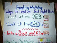 The Reading & Writing Project (at Teachers College, Columbia University) offers pictures of great classroom charts.