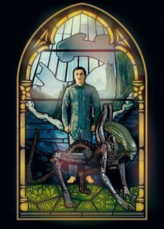 Alien Covenant Stained-glass window by ZacharyFeore.deviantart.com on @DeviantArt