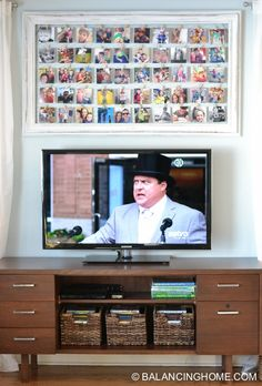 A fun DIY idea using art from Goodwill. Perfect craft project for wall decor. Especially above the tv!