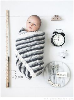 Clever and fun birth announcement photo