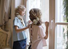 Girls having fun! in Amelie et Sophie blouses:)