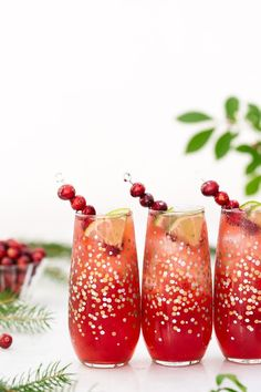 Cranberry Margaritas and some other cocktail and appetizer recipes perfect for New Year's Eve.