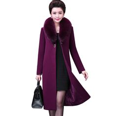 b0fe5c6a918 Women s Winter Jackets and Coats Elegant Warm Women Woolen Coat Long Women  Coat Jacket autumn Female