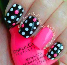 polka dot with 1 pink