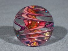 Marbles: Hand Made Art Glass James Alloway Dichroic Marble #1781 1.15inch