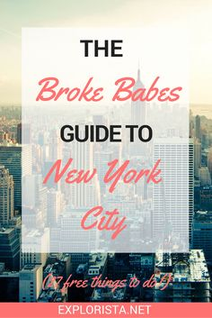 New York is not for the faint of heart when it comes of budget. With $20 dollar cocktails and expensive taxi rides everywhere you go, just stepping outside your doorstep will make you poor. But thankfully New York has a lot of fun activities for broke babes too. These are our favourite free things to do in New York.