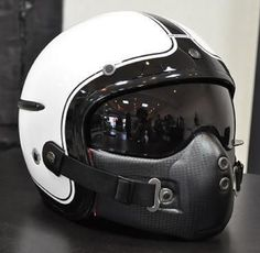 I like the idea of a fighter pilot style motorcycle helmet Custom Motorcycle Helmets, Custom Helmets, Motorcycle Gear, Motorcycle Accessories, Custom Bikes, Women Motorcycle, Monster Motorcycle, 1200 Gs Adventure, Cool Motorcycles
