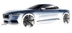 Volvo Concept Coupe Desing Sketch (2013)