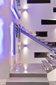 Modern Interior :: Las Vegas Home Floating Stairs - by Quardt on Flickr