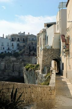 In the old village of Viëste many streets lay by the sea, Puglia.