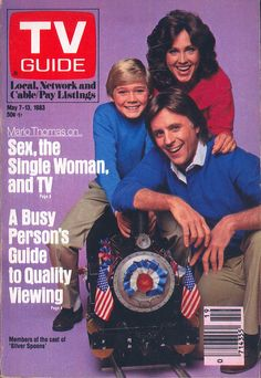 May 7 Rick Schroder, Erin Gray and Joel Higgins (Silver Spoons) Color Television, Vintage Television, Erin Gray, 80 Tv Shows, Broadcast News, American Bandstand, Ready Player One, Vintage Tv, Tv Guide