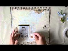 'Happy' start to finish mixed media layout for Lindy's Stamp Gang - YouTube