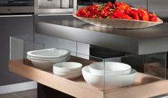 פרטי מתוך מטבח גפן של מטבחי פז News Design, Tableware, Kitchen, Home, Baking Center, Dinnerware, Cooking, House, Dishes