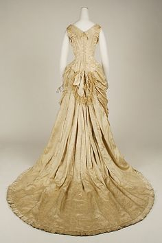 Dress House of Worth  (French, 1858–1956)  Designer: Charles Frederick Worth (French (born England), Bourne 1825–1895 Paris) Date: 1880–82 Culture: French. Back
