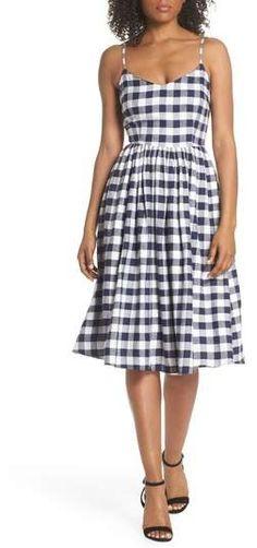 8122b744769f0 BB Dakota Matie Gingham Midi Dress