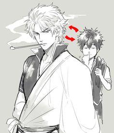 Tags: Anime, KANapy, Gin Tama, Hijikata Toushirou, Sakata Gintoki, Shinsengumi Uniform (Gin Tama), Out of Character