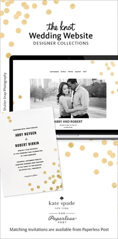 kate spade lovers prepare to obsess over these custom designed wedding websites by kate spade